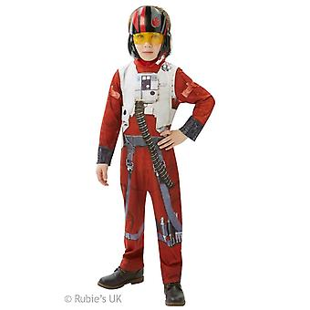 Star Wars Boys Poe Dameron X-Wing Fighter Classic Costume
