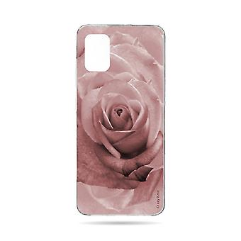 Hull For Samsung Galaxy A71 Soft Flower Rose In Pastel Rose