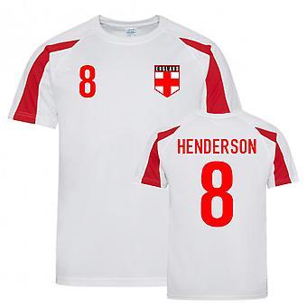 Jordan Henderson England Sports Training Jersey (Hvid-Rød)