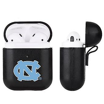North Carolina Tar Heels NCAA Fan Brander Zwart lederen AirPod Case