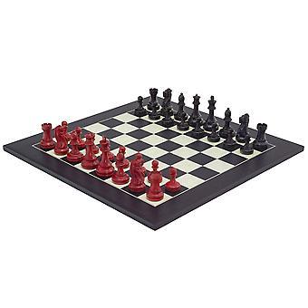 Punainen ja musta Broadbase Chess Set