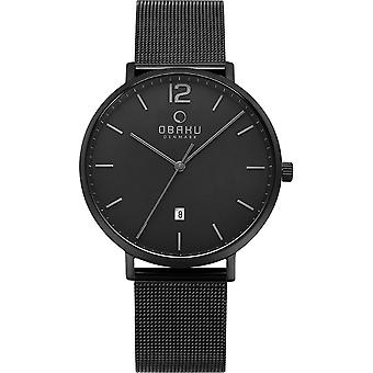 Obaku Toft Charcoal Men's Wristwatch V181GDBBMB