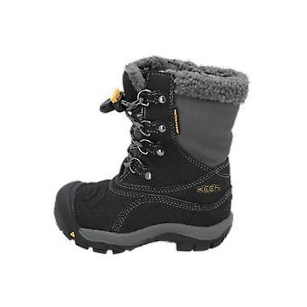 Keen BASIN WP Kids Boots Black Lace-Up Boots Winter