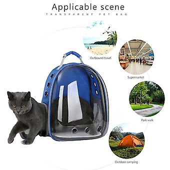 Blue Cat Dog bag backpack Transport bag
