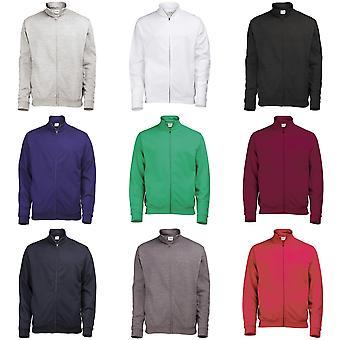 Planície de Mens Awdis fresco Zip completo suor / camisola / Outerwear