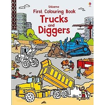 First Colouring Book Trucks and Diggers by Dan Crisp