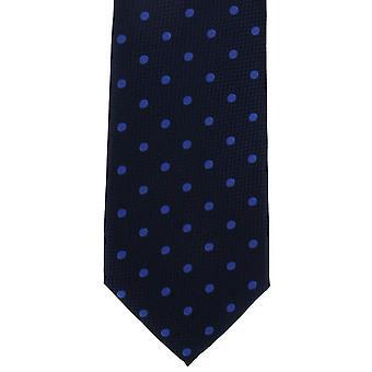Michelsons di Londra pesante martellata Spot poliestere cravatta - blu reale