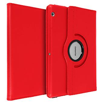 360° rotary standing case, shock absorbing cover for Huawei MediaPad T3 9.6 Red