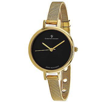 Christian Van Sant Women's Grace Black Dial Watch - CV0284