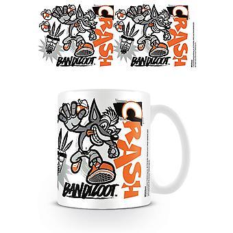 Crash Bandicoot Stencil Mug