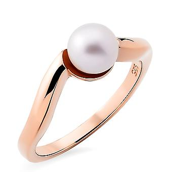 Orphelia Silver 925 Ring with Fresh water Pearl Rose Gold plated