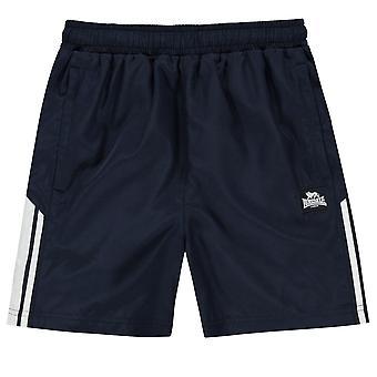 Lonsdale Boys 2 Stripe vævede shorts bunde elastik linning 2 lommer