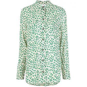 Ganni F4800180 Women's Green Cotton Shirt