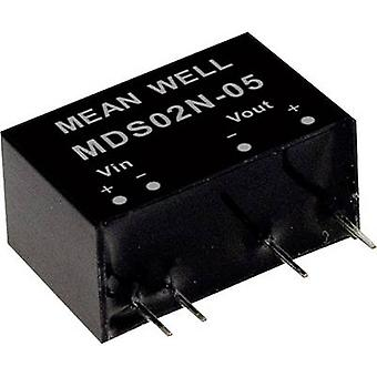 Mean Well MDS02L-05 DC/DC converter (module) 400 mA 2 W No. of outputs: 1 x