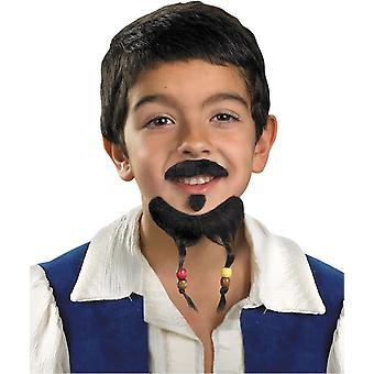 Moustache et barbiche pirate