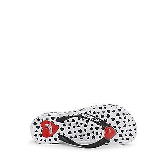 Love Moschino - Shoes - Flip Flops - JA28164G0AJ1_000A - Ladies - black,white - EU 41