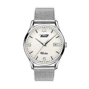 Tissot T118.410.11.277.00 Heritage Visodate Silver Opalin Dial Mesh Men's Watch