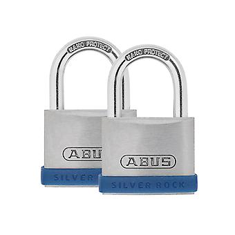 ABUS 40mm Silver Rock 5 Padlock Twin Pack ABU540TC