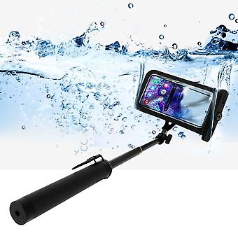 Selfie Stick Bluetooth Smartphone IPX8 Waterproof Cover with Hand Strap - Black