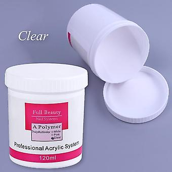 Acrylic Powder Clear Pink White Carving Crystal Polymer -3d Nail Art Tips Builder Manicure