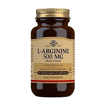 L-Arginine 50 vegetable capsules of 500mg