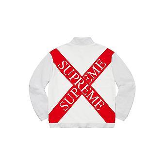 Supreme Cross Half Zip Sweatshirt Ash Grey - Clothing