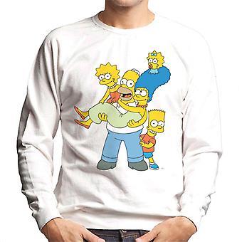 Die Simpsons Familie Foto Men's Sweatshirt