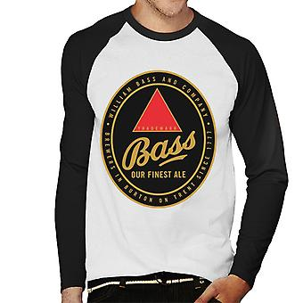 Bass Our Finest Ale Men-apos;s Baseball Long Sleeved T-Shirt