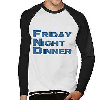 Friday Night Dinner Logo Men's Baseball Long Sleeved T-Shirt