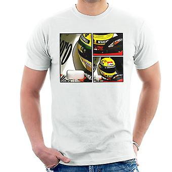 Motorsport Bilder Ayrton Senna McLaren Circuito Estoril Rahmen Art Men's T-Shirt