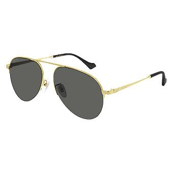 Gucci GG0742S 005 Gold/Grey Sunglasses