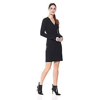 Lerche & Ro Frauen's Langarm Faux Wrap Mantel Pullover Kleid, Marine, X-Large