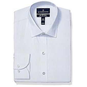 ボタンダウンメン&アポス;sスリムフィットテックストレッチクールマックスイージーケアドレスシャツ、罰金.