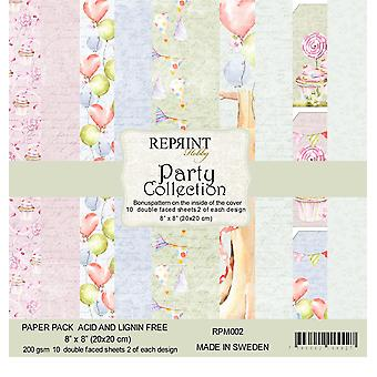 Reprint Party 8x8 Inch Paper Pack