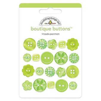 Doodlebug Design Limeade Botones Boutique (20pcs) (2475)