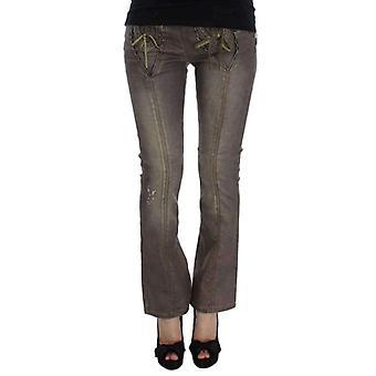 Grijze Wash katoen Blend slim fit Bootcut Jeans--SIG3494917