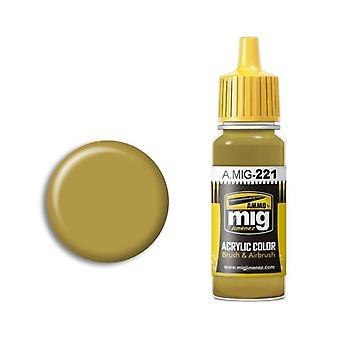 Ammo by Mig Acrylic Paint - A.MIG-0221 FS 33481 Zinc Chromate Yellow (17ml)