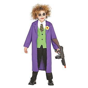 Pojkar Crazy Joker Fancy Dress Kostym