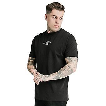 Sik Silk Ss-17268 Square Hem Standard Centre Logo Camiseta - Negro