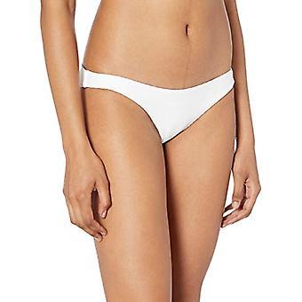 RVCA womens White Noise Medium Coverage Bikini Bottom, M