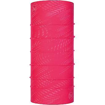 Buff Unisex Reflective Solid Original Protective Outdoor Tubular Bandana - Pink