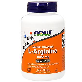 Jetzt Lebensmittel, L-Arginin, Doppelstärke, 1.000 mg, 120 Tabletten