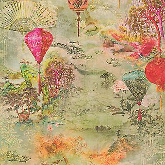 Asian Fusion Lanterns Wallpaper Multi AS Creation 37466-1