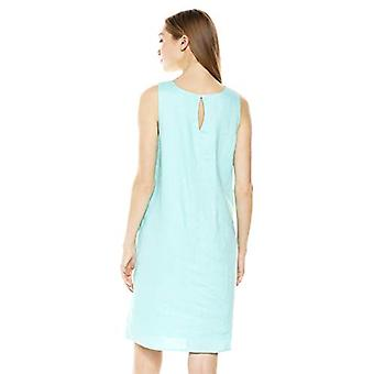 28 Palms Women's 100% Linen Sleeveless Shift Dress, Aqua, X-Large