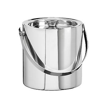Polished Stainless Steel 1 .5 Qt Doublewall Insulated Ice Bucket