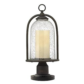 1 Light Outdoor Pedestal Light Oil Rubbed Bronze IP44, E27