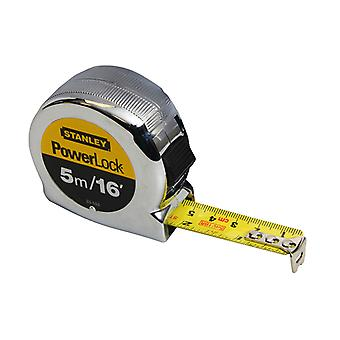 Stanley Tools PowerLock Classic Pocket Tape 5m/16ft (Width 19mm) STA033553