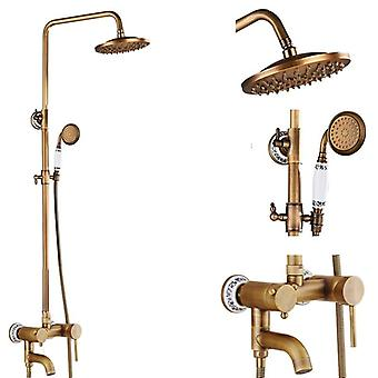 8'' Antieke Brass Shower Kranen Set