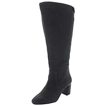 Alfani Womens Nessii Suede Block Heel Dress Boots Gray 10 Medium (B,M)