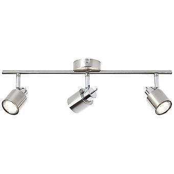Brilliant Lampada Andres Spot Tube 3flg nichel/cromo | 3x PAR51, GU10, 10W, adatto per lampade riflettori (non incluso)